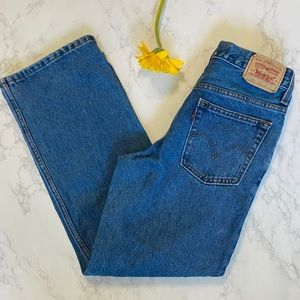 Levis 550 relaxed fit blue jeans 14 regular 27x27